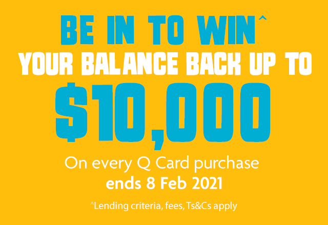 Be in to win^ your balance back